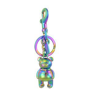 COACH Hologram Iridescent Teddy Bear Keychain Bag